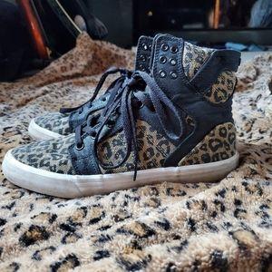 Supra Leopard High Top Sneakers